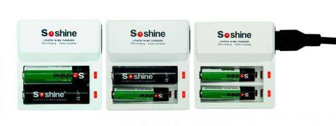 Soshine F7 dual charger for 3.2V Li-FePO4 14500 10440 / 1.2V Ni-MH AA AAA Intelligent Charger