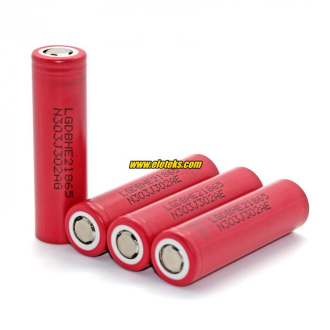 Original LG18650HE2 2500mah 3.7V li-ion 18650 rechargeable battery, 30Amp high discharge battery for ecig mods