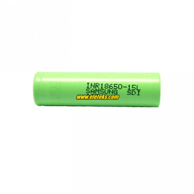 Samsung INR18650-15L 1500mAh 3.7V Li-ion Rechargeable Battery for Flashlights, eCig Mods, Power Tools