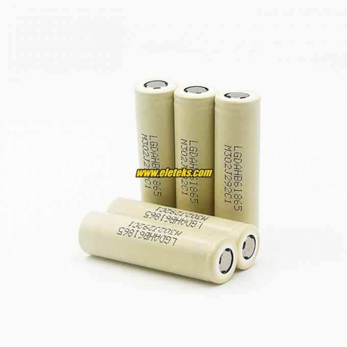 LGDAHB61865 3.7V Authentic LG HB6 18650 1500mAh rechargeable batteries, 100% Original from Korea