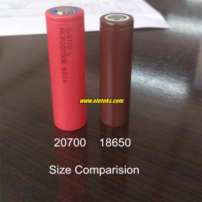 2017 new Authentic Sanyo NCR20700B 3.6V Cylinder li-ion battery 20700 4250mah high drain battery