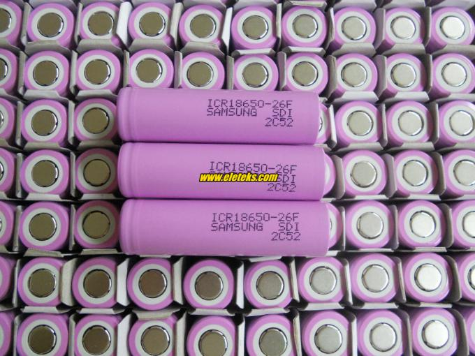 Original Samsung ICR18650-26F 3.7V Samsung 18650 2600mAh rechargeable li-ion battery cells