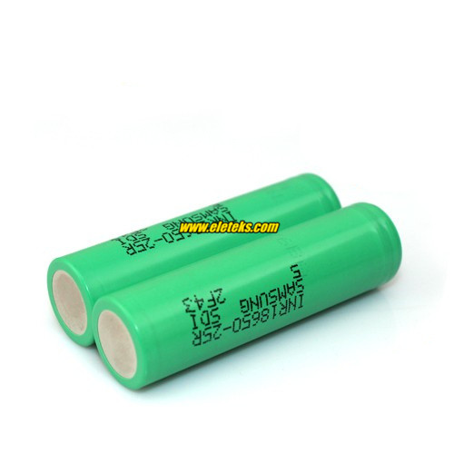 Samsung INR18650-25R 2500mAh 3.7V Rechargeable Li-ion Power Battery Wholesale Authentic High Drain Battery for ecig mods