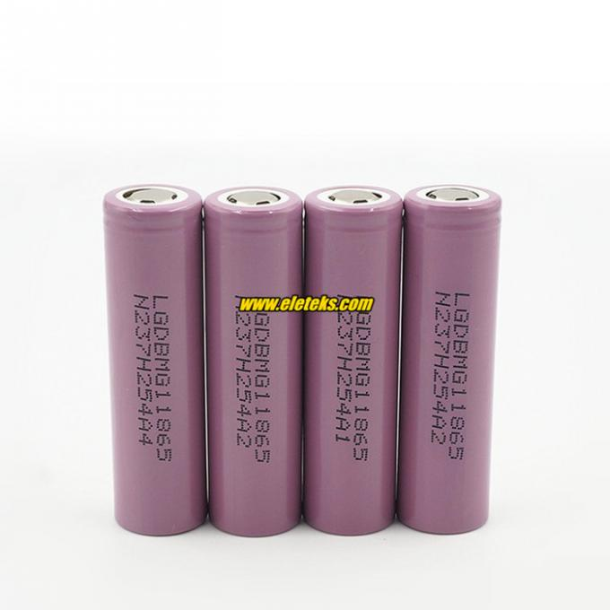 New and original 3.7V 18650 battery, LG MG1 18650 power bank 2900mah 10amp spec for vaping