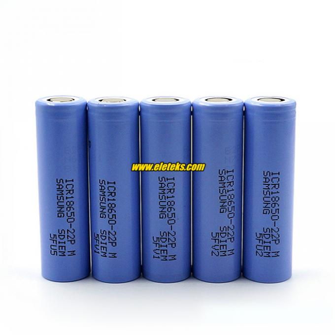 Authentic Samsung ICR18650-22PM 2200mAh 10A 3.7V rechargeable li-ion battery cell 18650-2200mah