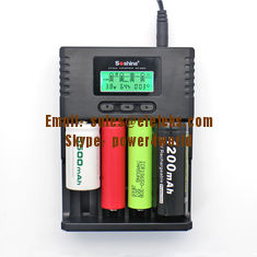 China Soshine H4 LCD Charger for Li-ion/NiMH/ LiIFePO4 battery 14500 18350 18650 26650 AA AAA C supplier