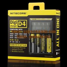 China Nitecore D4 LCD intelligent battery charger for IMR/Li-ion/Ni-MH/Hi-Cd and LiFePO4 rechargeable batteries supplier