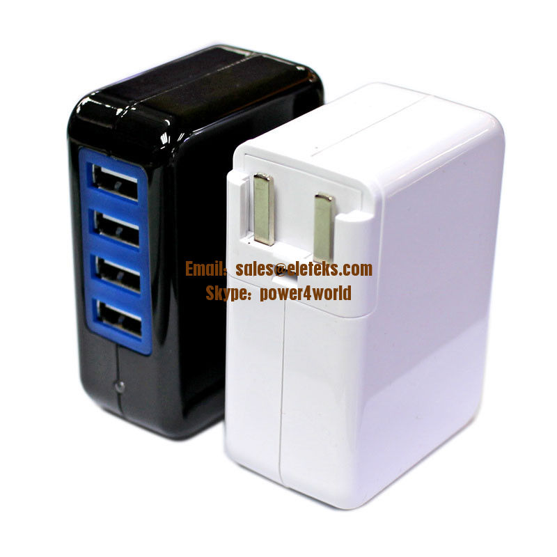 Soshine Power 4-USB 3.1A 15w Travel Wall Charger