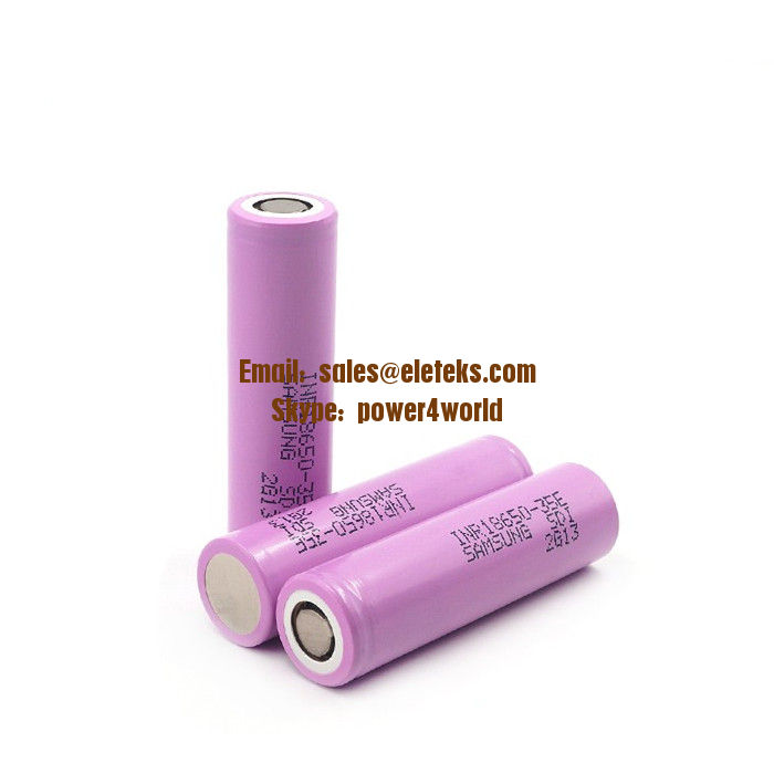 Samsung SDI INR18650-35E 3500mAh High Discharge FLAT Top 18650 Rechargeable Li-ion Battery Samsung 18650 35E
