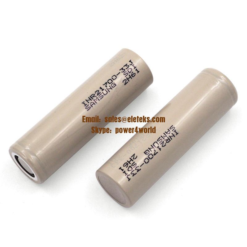 Samsung High Drain INR21700-33J 3.2A 3300mAh High Capacity 3.6V Li-ion Rechargeable Flat Top Battery