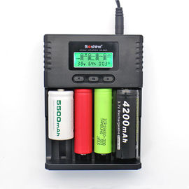 Soshine H4 LCD Charger for Li-ion/NiMH/ LiIFePO4 battery 14500 18350 18650 26650 AA AAA C