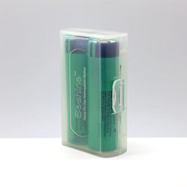 Clear color 2*18650 battery holder plastic case/18650 battery plastic battery case for 2pcs 18650 batteries